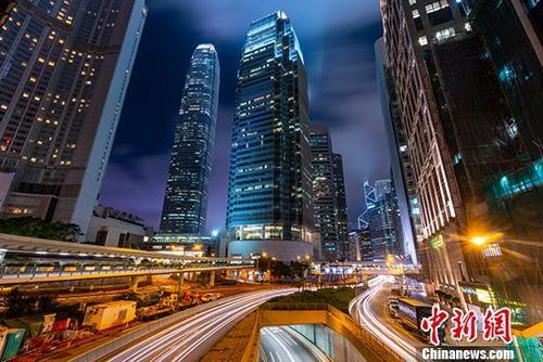 資料圖:頂級寫字樓林立的香港中環。 <a target='_blank' href='http://www.zygs666.com/'>中新社</a>記者 張煒 攝
