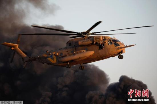 资料图:以色列空军直升机。