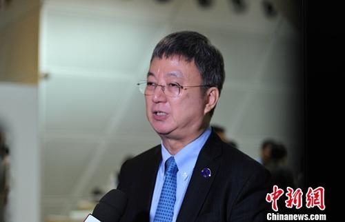 资料图:清华大学国家金融研究院院长朱民。/p中新社记者 于海洋 摄