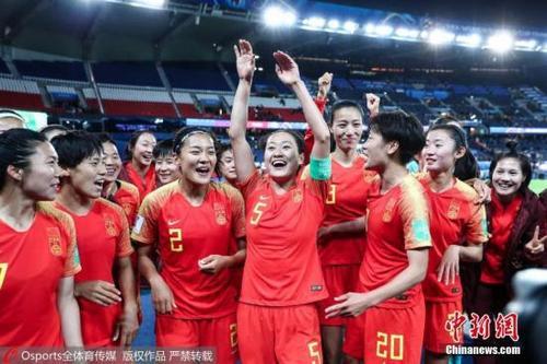 资料图为中国女足在女足世界杯比赛中。图片来源:Osports全体育图片社