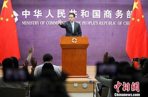 商务部新闻发言人高峰。(资料图片)中新社记者 赵隽 摄