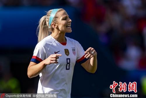 资料图为美国女足运动员。图片来源:Osports全体育图片社