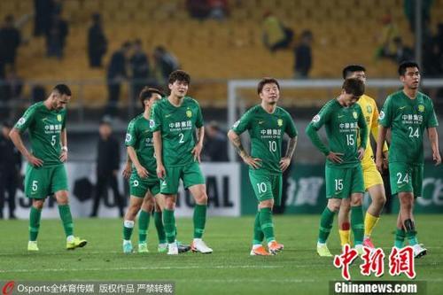 资料图:北京国安在比赛中。图片来源:Osports全体育图片社