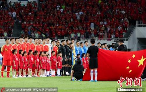 材料图:中国男足。图片滥觞:Osports部分育图片社