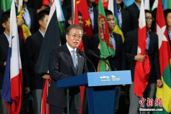 资料图:韩国总统文在寅。 中新社记者 韩海丹 摄