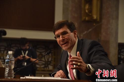 美国国防部长马克·埃斯珀。中新社记者 沙晗汀 摄