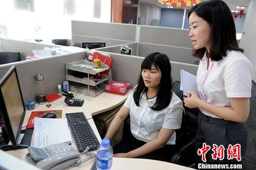 资料图:台湾学生在大陆实习。发 陈淑华 摄