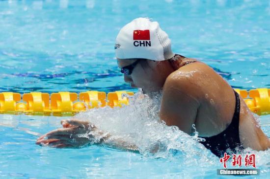 材料图:7月21日,叶诗文正在角逐中。当日,正在韩国光州举办的2019泳世锦赛男子200米混淆泳半赛中,止您选脚叶诗文升级赛。 a target='_blank' 种孤社/a记者 韩海 摄