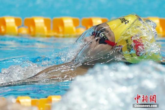 材料图:7月22日,缓嘉余正在角逐中。当日,正在韩国光州举办的2019泳世锦赛须眉100米俯泳初赛中,止您选脚缓嘉余以52秒85的结果排名初赛第一,升级半赛。 a target='_blank' href='http://www.chinanews.com/'种孤社/a记者 韩海 摄