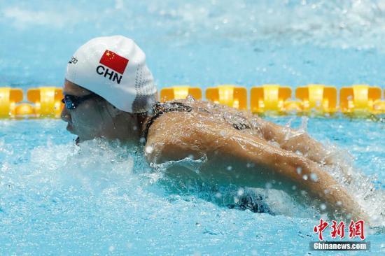 """叶诗文游泳世锦赛逆转对手再摘银:""""找回了比赛的感觉"""""""