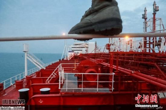 """资料图:英国籍油轮""""史丹纳帝国""""号(Stena Impero)。"""