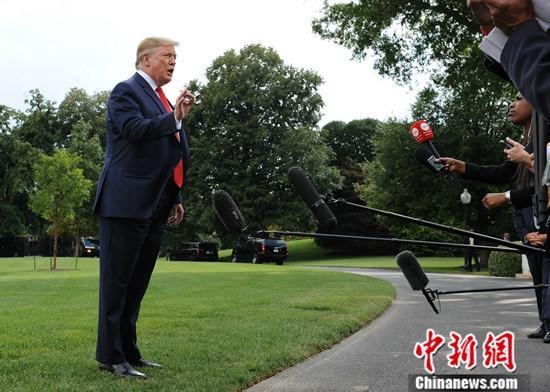 材料图:美国总统特朗普。中新社记者 陈孟统 摄