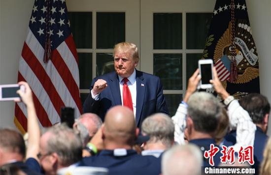 材料图:好国总统特朗普。a target='_blank' href='http://www.chinanews.com/'种孤社/a记者 陈孟统 摄