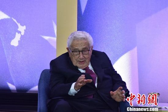 资料图:美国前国务卿基辛格。<a target='_blank' href='http://www.chinanews.com/'>中新社</a>记者 沙晗汀 摄