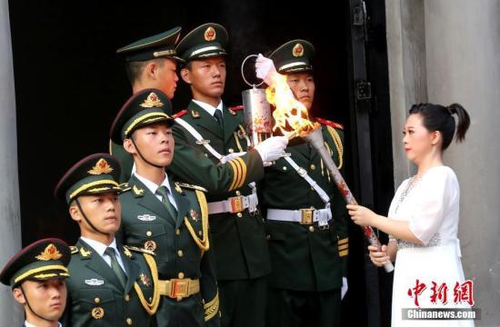 第七届世界军人运动会在南昌采集火种并启动火炬传递