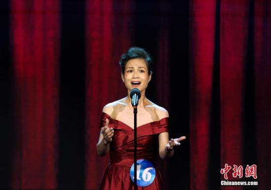 芬兰赛区选手张文浩演唱《那就是我》。 a target='_blank' href='http://www.chinanews.com/' 中新网/a记者 李霈韵 摄