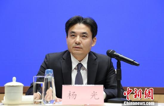 8月6日,国新办举行介绍对香港当前局势的看法吹风会。国务院港澳事务办公室发言人杨光强出席吹风会。中新社记者 杨可佳 摄