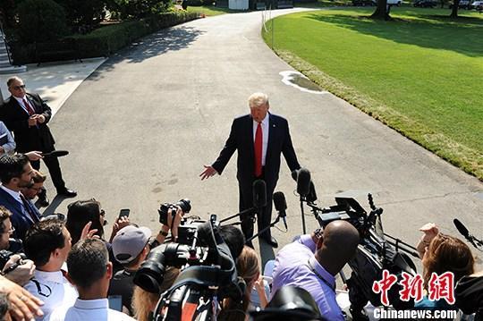 材料图:好国总统特朗普。a target='_blank' href='http://www.chinanews.com/'中新社/a记者 陈孟统 摄