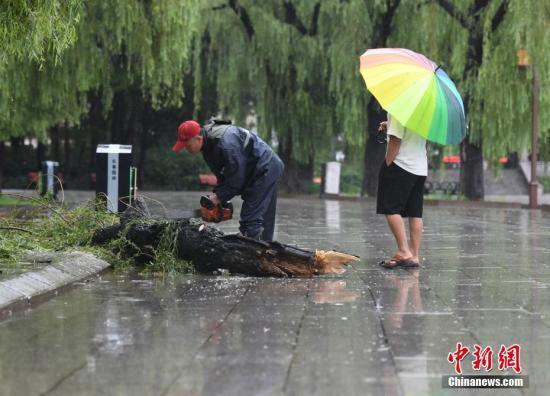 资料图:降雨天气中市民出行。 中新社记者 张瑶 摄