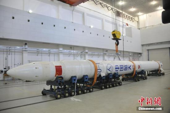 图正正在厂房组拆的捷龙一号水箭。a target='_blank' href='http://www.chinanews.com/'种孤社/a记者 王 摄