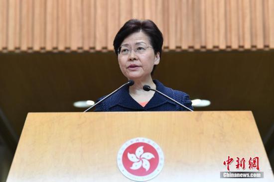 8月20日上午,香港特区行政长官林郑月娥出席行政会议前会见传媒,表示政府将马上展开工作,构建对话平台。a target='_blank' href='http://www.chinanews.com/'中新社/a记者 麦尚 摄