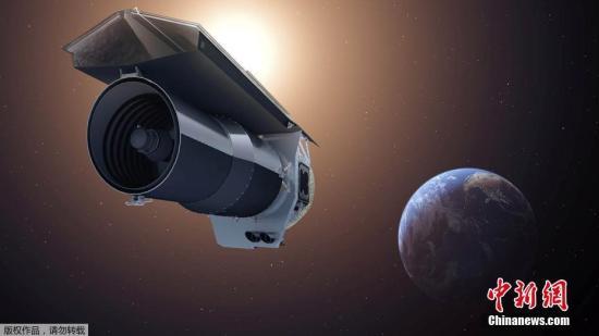 据悉,这是斯皮策太空望远镜第一次能够收集有关绕M型矮星运行的类地行星的大气层的数据。NASA表示,很少有热量从系外行星的明亮一侧转移到寒冷的一侧,表明缺少风,因此几乎没有大气层。图为是皮册太空望远镜概念图。