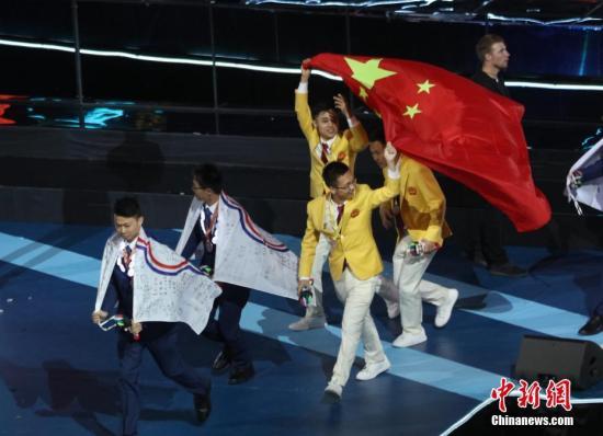 本地工夫8月27日,第45届天下妙技年夜赛正在俄罗斯喀山终结。中国选脚集体总分位列第一。a target='_blank' href='http://www.chinanews.com/'中新社/a记者 王建君 摄