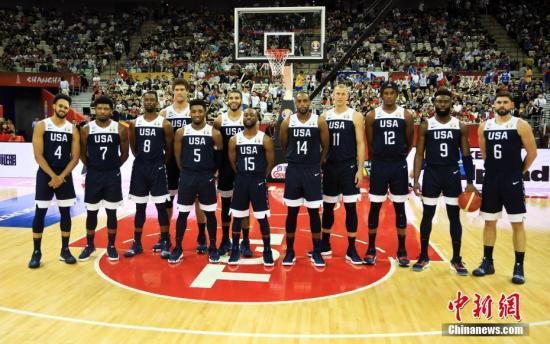 2018年男篮世界杯上的美国队是1992年以来星味最淡的一届。 汤彦俊 摄