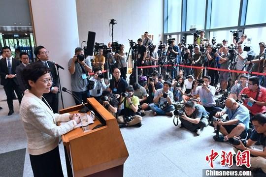 9月3日早上,香港特区行政长官林郑月娥出席行政会议前会见传媒,表示自己从没有向中央提出请辞,强调仍有信心带领香港走出困局。<a target='_blank' href='http://www.chinanews.com/'>中新社</a>记者 麦尚旻 摄