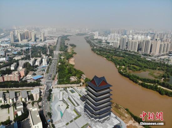 资料图:黄河兰州段。/p中新社记者 杨艳敏 摄