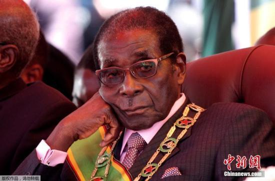 资料图:津巴布韦前总统穆加贝。