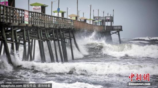 """資料圖:颶風""""多里安""""襲擊美國。 圖片來源:Sipaphoto 版權作品 禁止轉載"""