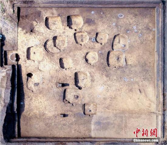 图为四麻沟遗址第Ⅲ地点航拍图。内蒙古文物考古研究所供图