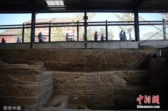 资料图:石家庄正定古城燕赵大街上的开元寺南广场遗址考古发掘现场。图片来源:视觉中国