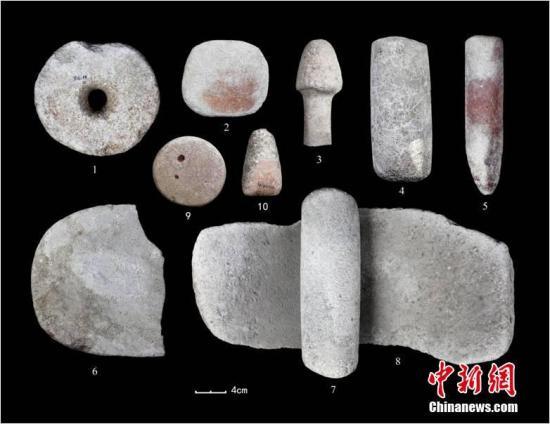 图为四麻沟遗址出土石制品。内蒙古文物考古研究所供图