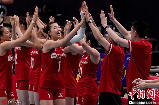资料图:当地时间2019年9月14日,日本横滨,2019女排世界杯第一阶段首轮,中国3-0韩国。 图片来源:ICphoto
