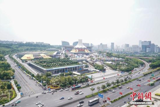 资料图:中国-东盟博览会场馆南宁国际会展中心。中新社记者 陈冠言 摄