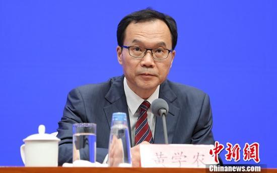 9月20日,国务院新闻办公室举行新闻发布会,介绍中华人民共和国成立70周年能源发展成就有关情况,国家能源局电力司司长黄学农出席会议。中新社记者 杨可佳 摄