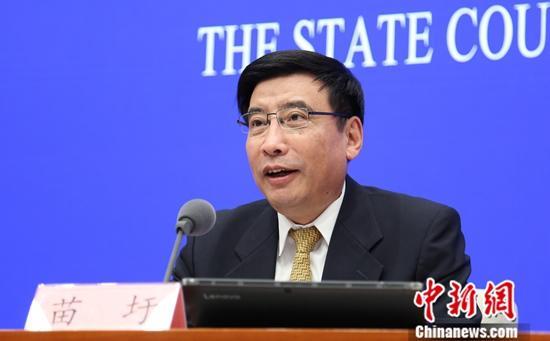 9月20日,国务院新闻办公室举行新闻发布会,工业和信息化部部长苗圩介绍新中国成立70周年工业通信业发展情况,并答记者问。中新社记者 杨可佳 摄