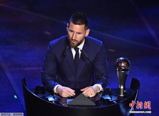 梅西第六度当选世界足球先生 刷新历史纪录
