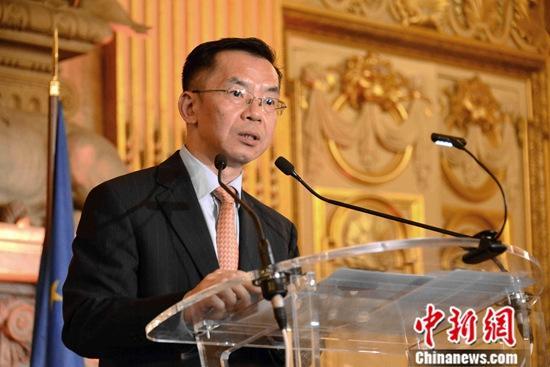 资料图:中国驻法大使卢沙野。/p中新社记者 李洋 摄