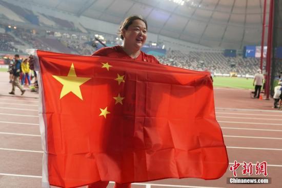 资料图:中国女子链球选手王峥。中新社记者 泱波 摄