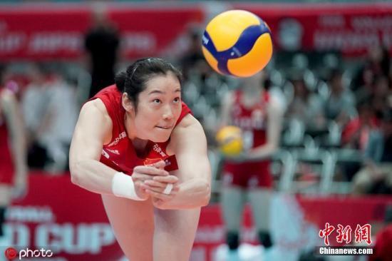 图为朱婷在比赛中。图片来源:ICphoto
