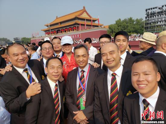 10月1日,香港警队代表受邀参加庆祝中华人民共和国成立70周年大会。