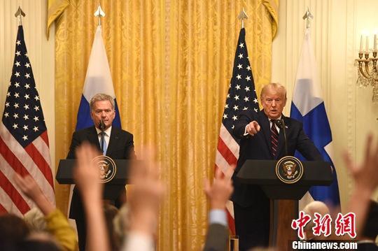 特朗普晤芬兰总统  谈5G与北极事务合作