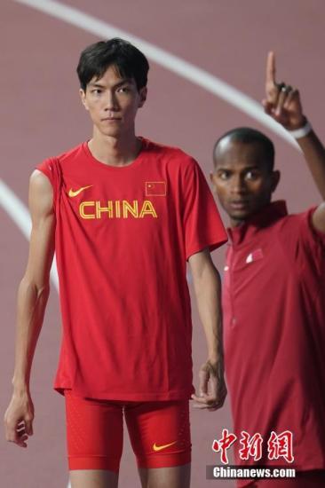 当地时间10月4日晚,在卡塔尔多哈举行的2019国际田联世界田径锦标赛男子跳高决赛中,中国选手王宇以2米24的成绩获得第十名。中新社记者 泱波 摄
