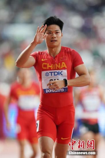 资料图:中国选手苏炳添在比赛中。中新社记者 泱波 摄