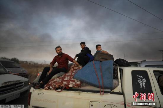 土耳其占领叙东北部边境重镇拉斯艾因 大量居民流离失所