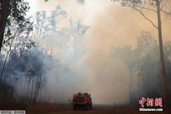 本地工夫10月9日,澳年夜利亚新北威我士州北部发作丛林年夜水,救火员正在水场灭水。