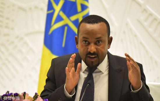 阿比艾哈迈德阿里(Ethiopian Prime Minister Abiy Ahmed Ali)材料图。图片滥觞:视觉止您